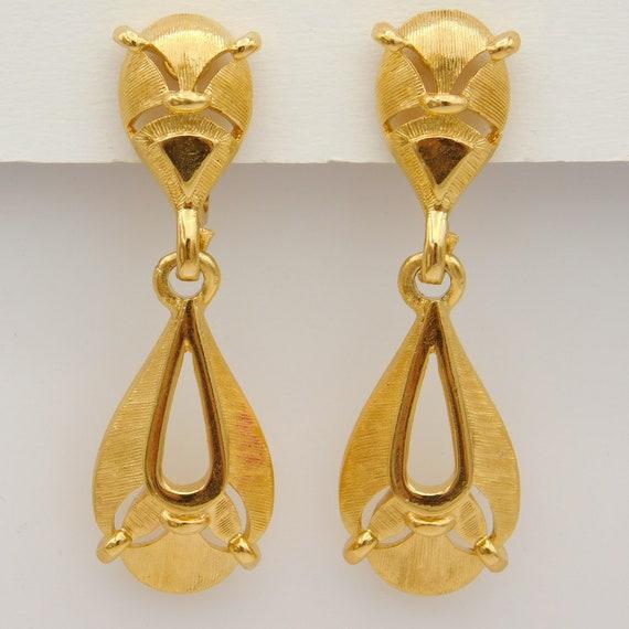 Vintage Trifari Earrings, Dangly Trifari Earrings… - image 4