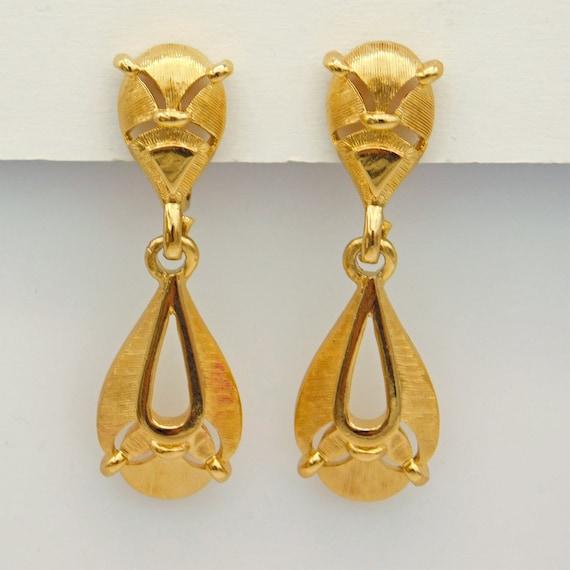 Vintage Trifari Earrings, Dangly Trifari Earrings… - image 2