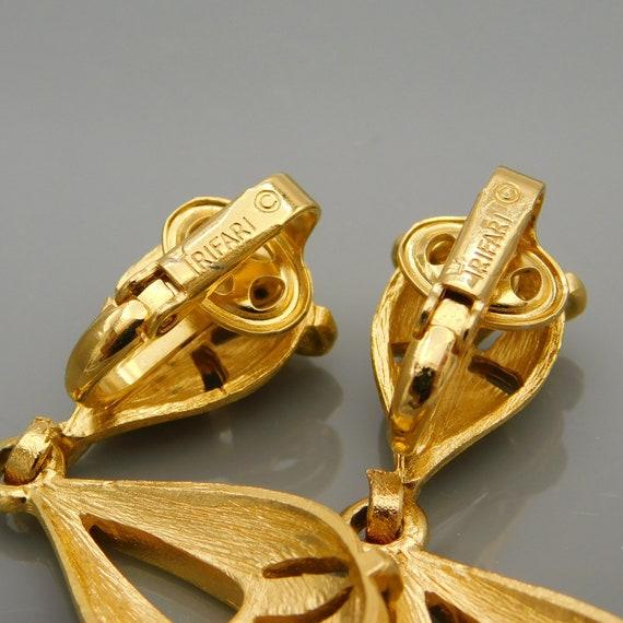 Vintage Trifari Earrings, Dangly Trifari Earrings… - image 3