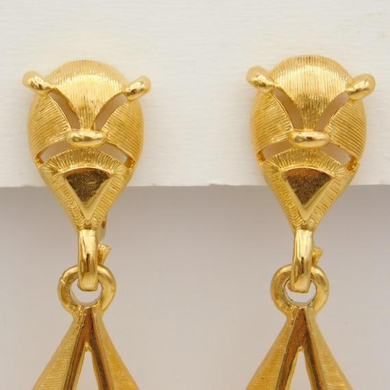 Vintage Trifari Earrings, Dangly Trifari Earrings… - image 5