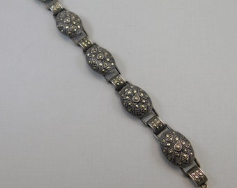 Art Deco Sterling Marcasite Bracelet Antique Jewelry