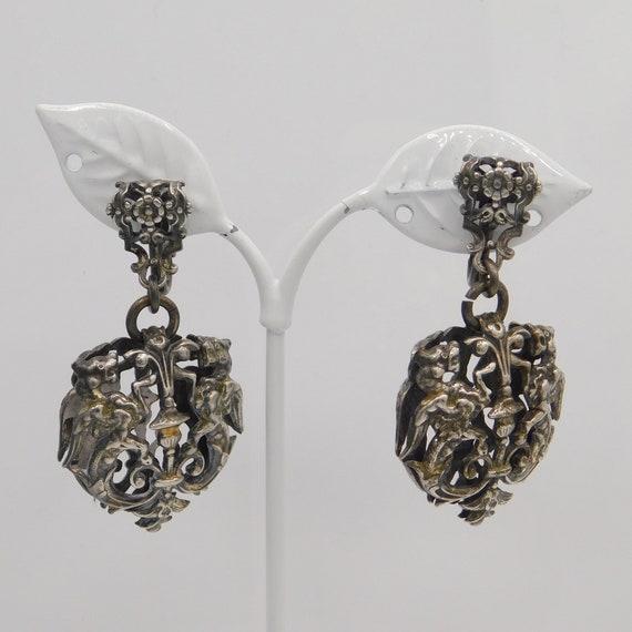 Vintage Griffin Earrings, Napier Griffin Earrings,