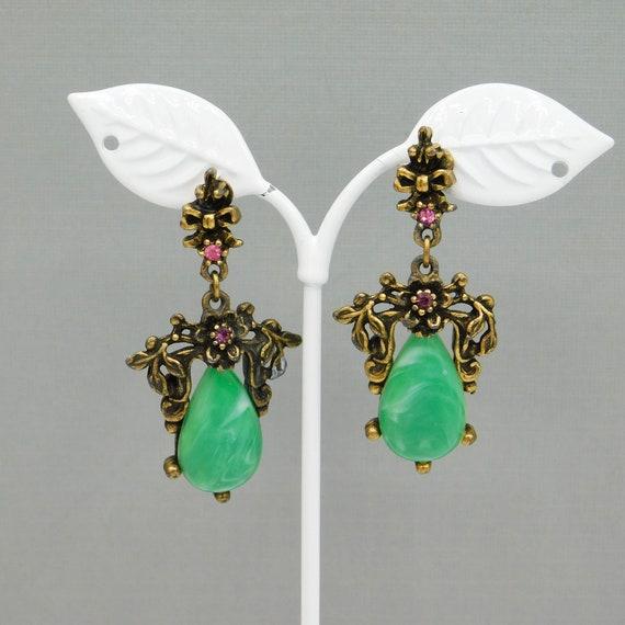 Long Vintage Earrings, Vintage Forties Earrings, … - image 2