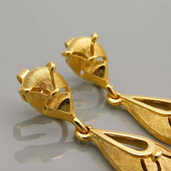 Vintage Trifari Earrings, Dangly Trifari Earrings… - image 6