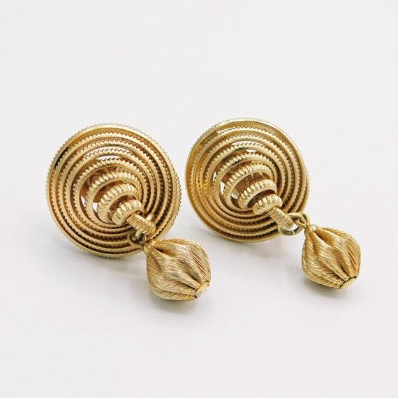 Vintage Napier Earrings, Unusual Vintage Earrings,