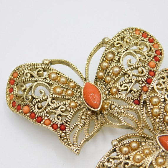 Large Butterfly Trio Brooch, Vintage Monet Brooch… - image 7