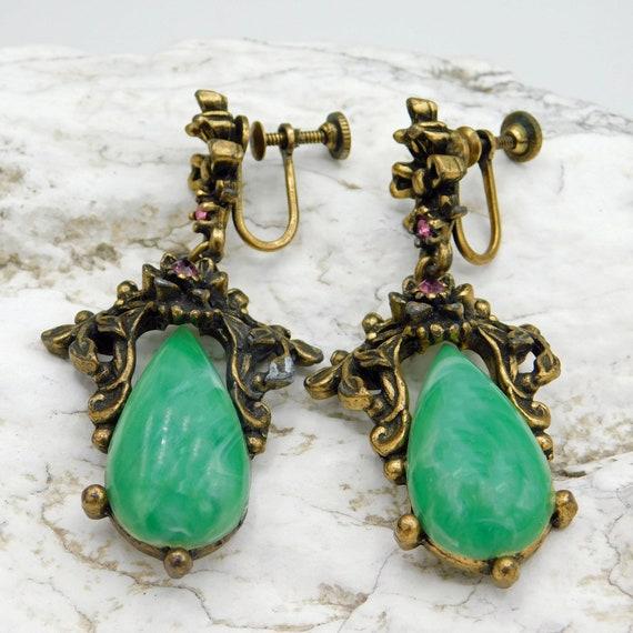 Long Vintage Earrings, Vintage Forties Earrings, … - image 3