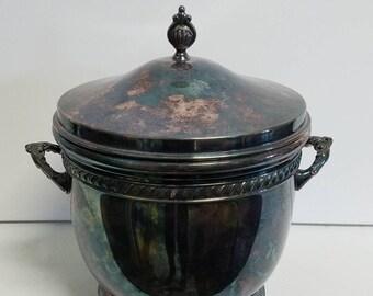 Silverplate Shabby Chic Winthrop Ice Bucket