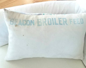 Beacon Mill 1948 Chicken Feed Pillow