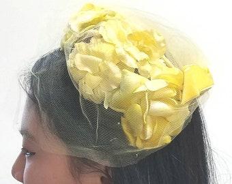 Sunny Yellow Vintage Hat
