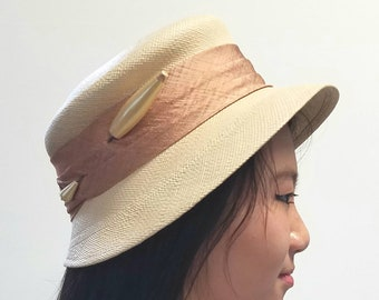 Panama Hat with Pearlized Pin
