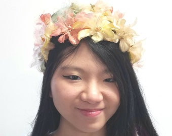 Peachy Floral Clamp Hat