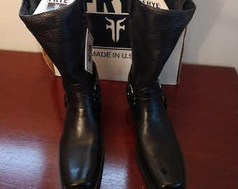 Vintage Frye Womens Harness Leather Boots - Size 9.5