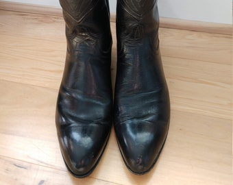Vintage Stitched Ammons Cowboy Boots - Size 9.5 Womens