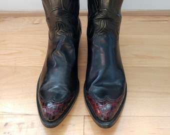 Vintage Stitched Lucchese Cowboy Boots - Size 9.5 Womens
