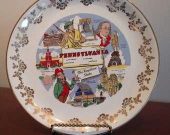 Beautiful Commemorative Historic State of Pennsylvania Plate (19D)