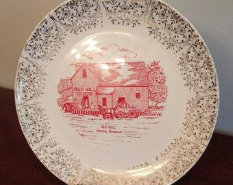 Beautiful Historic Red Mill Verona, Missouri Commemorative Plate (19F)