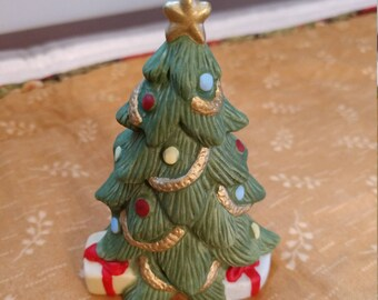 Festive Homco Ceramic Christmas Tree, Holiday (JM)