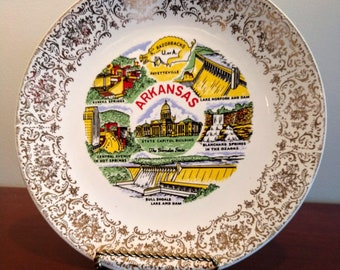 Beautiful Commemorative State of Kansas Plate (19D)