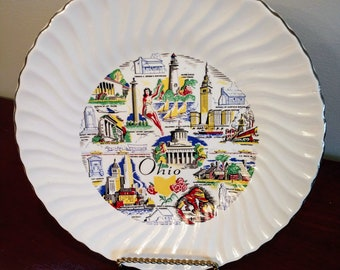 Beautiful Commemorative State of Ohio Plate (19F)