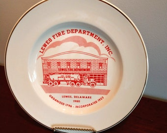 Commemorative Lewis, Delaware Fire Department Plate (19F)