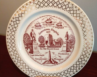 Commemorative Jamestown, Virginia 1607 Plate (19C)