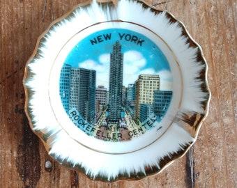 Souvenir Mini New York City Rockefeller Center Plate (19G)