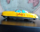 Vintage Tin Toy Taxi Cab (19A)