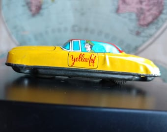 Vintage Tin Toy Taxi Cab (19A)