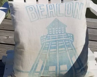 Upcycled Beacon Mill 1948 Chicken Feed Pillow