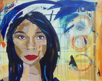 Fierce - a Mixed Media portrait by Theresa Wells Stifel