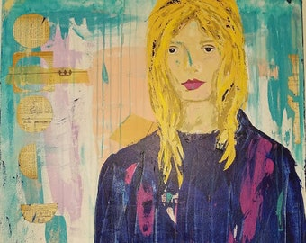 Harmony - a mixed media painting by Theresa Wells Stifel