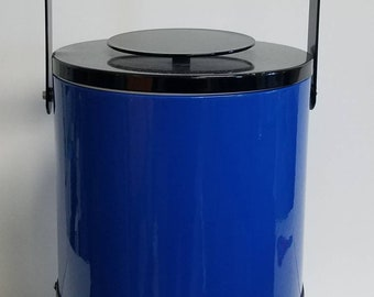 Georges Briard Signed Royal Blue Mid-century Ice Bucket