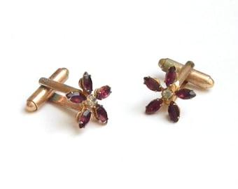 Crystal Floral Cufflinks