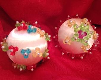 Vintage handmade Christmas ball ornaments