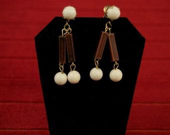 sale- was 12- Vintage Drop Clip Earrings