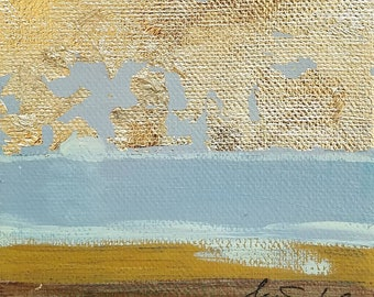 Morning Gilds the Sky mini painting by Theresa Wells Stifel