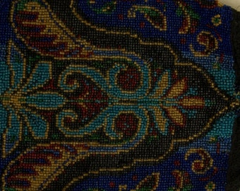 Beautiful Beaded Pouch Made In Germany rsb