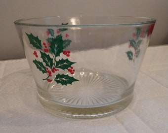 Sweet Holly Vintage Ice Bucket, Christmas, Holiday