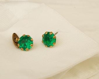 Beautiful Green Stone Cufflinks