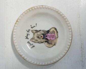 Adorable Dog Poker Plate