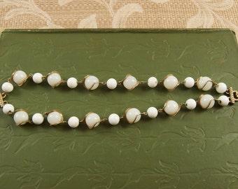 Vintage Double Strand Glass Bead Bracelet