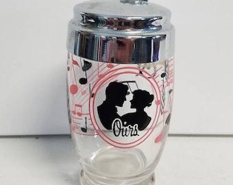 "Romantic Vintage ""Ours"" Cocktail Shaker."