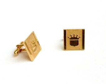 Crown Golden Cufflinks
