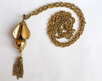 Brass Drop Pendant and Chain