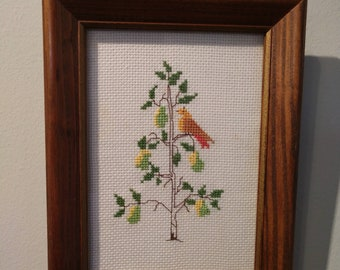 Counted Cross Stitch Holiday Picture, Christmas