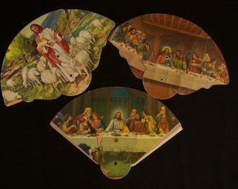 Vintage Funeral Fan Advertisement Lot of 3