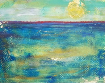 A New Day oil and cold wax by Theresa Wells Stifel