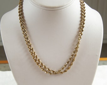 SALE WAS 45 Lovely Gold Over Sterling Italian Twisted Rope Chain
