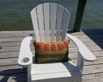 Upcycled Owing Brothers FEED Pillow